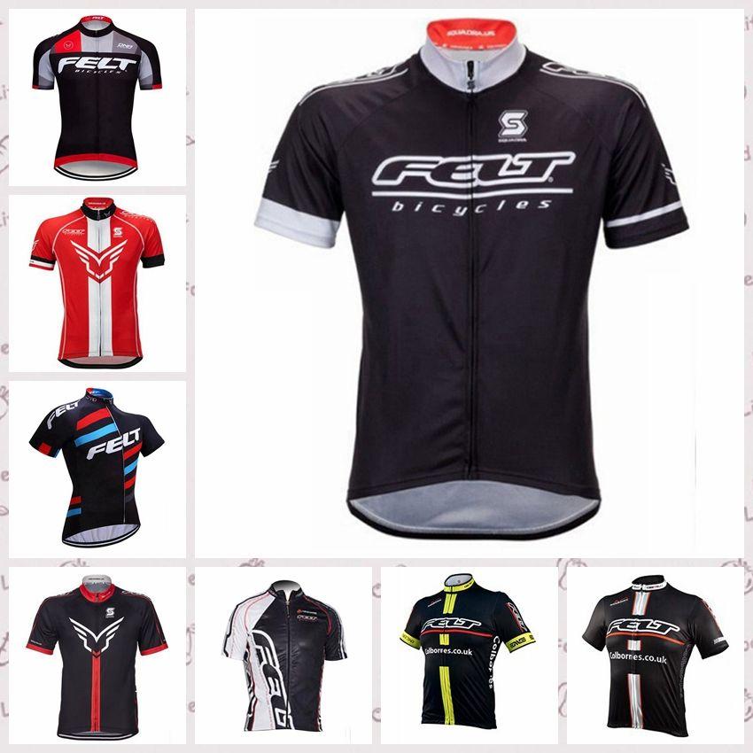los hombres del equipo de fieltro Ciclismo de manga corta camiseta de carretera de montaña bike la ropa transpirable bicicletas encabeza Ropa Ciclismo dtmall A6830