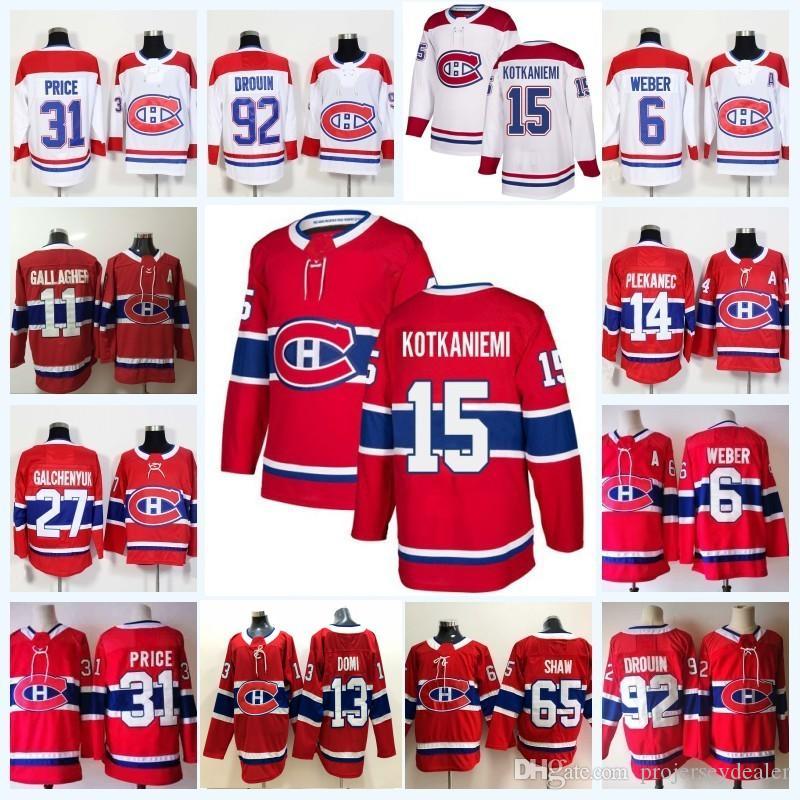 15 Jesperi Kotkaniemi 몬트리올 Canadiens Max Domi Jonathan Drouin 갤러거 베버 캐리 프라이스 Andrew Shaw Jean Beliveau Galchenyuk 저지