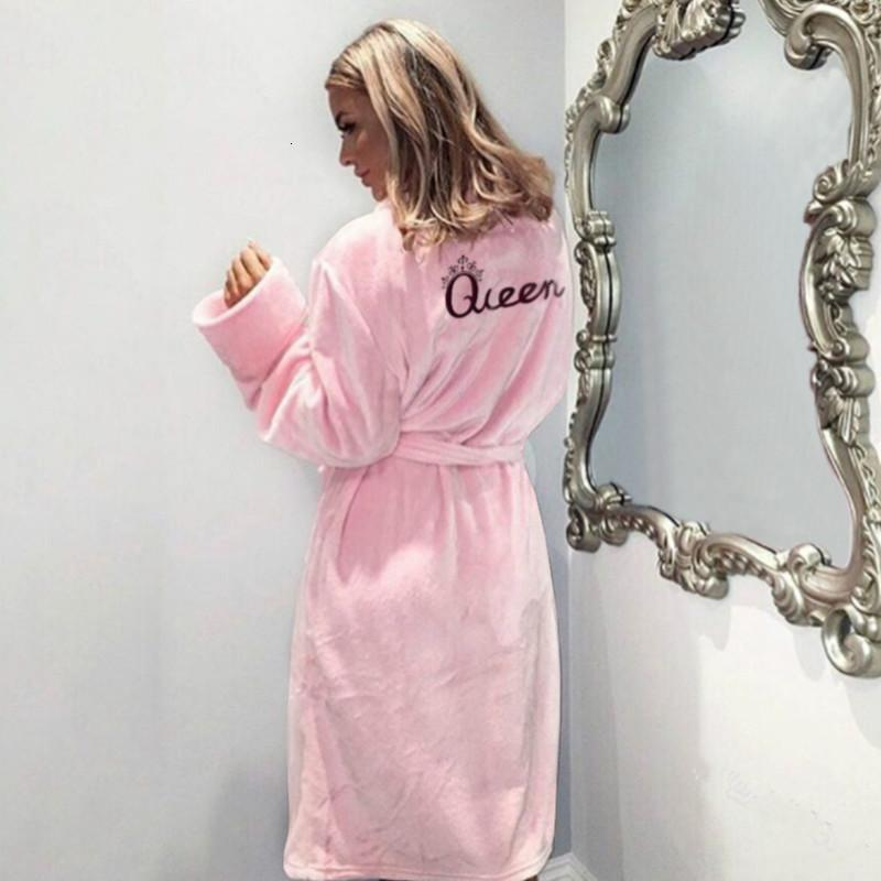 Sleepwear da donna Femme Atzeries Warm Winter Flannel Accappatoio Donne Bath Robe Soft Spessa Carina Pink Robes Dressing Gown Sleepwear