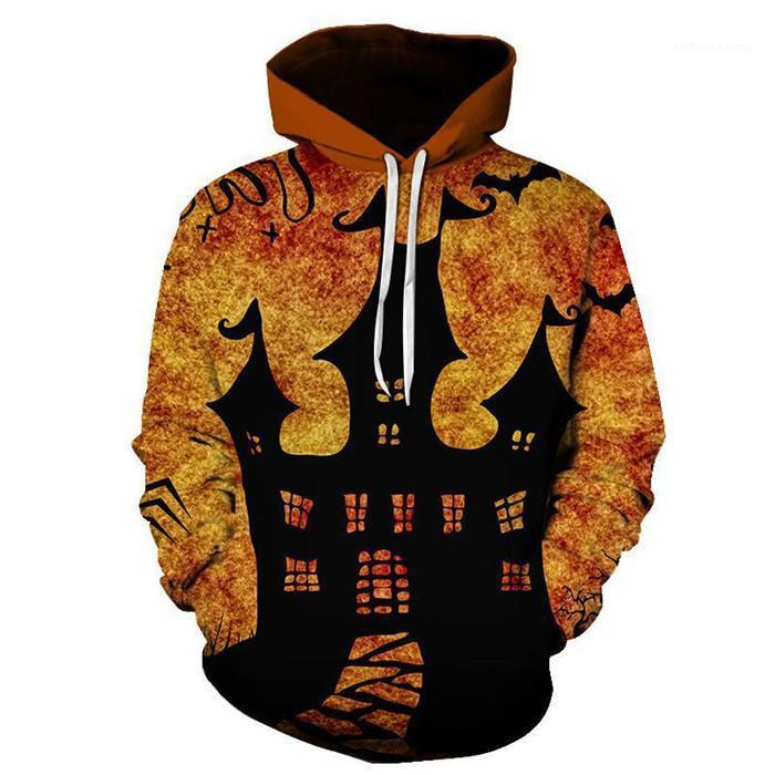 Повседневная одежда Хэллоуин стиль мужская осень дизайнер толстовки Хэллоуин пуловер 3D печати Homme одежда мода стиль