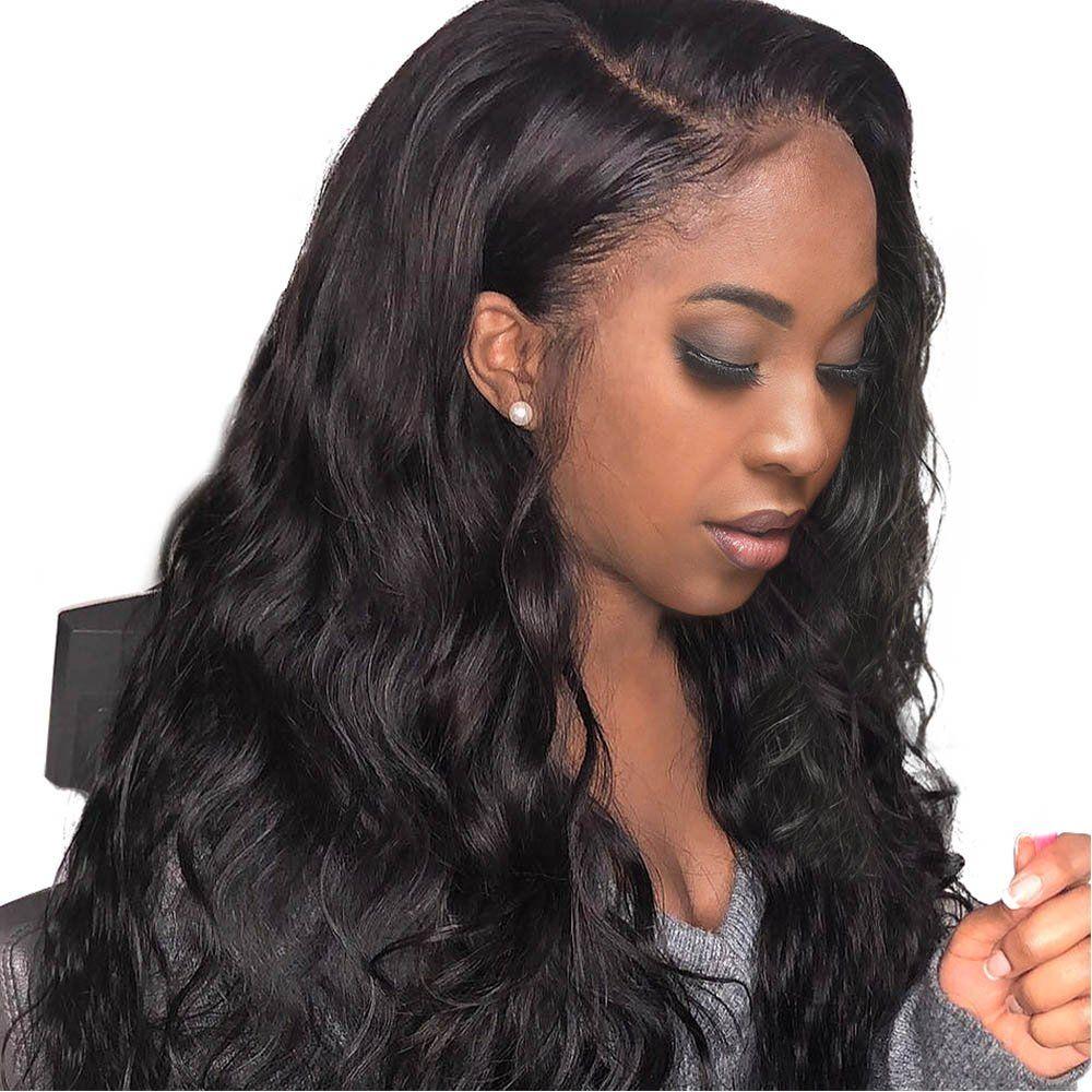 الجسم موجة الدانتيل الجبهة الباروكة البرازيلي العذراء الإنسان الشعر الكامل الرباط الباروكات للنساء اللون الطبيعي
