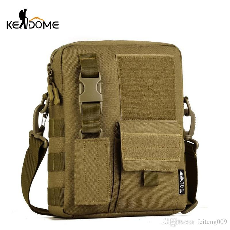 Men Camo Waterproof Vertical Messenger Bag Army Fans Tactical Shoulder Bag Outdoor Travel Commuter Package Extend Molle XA457WD #751776