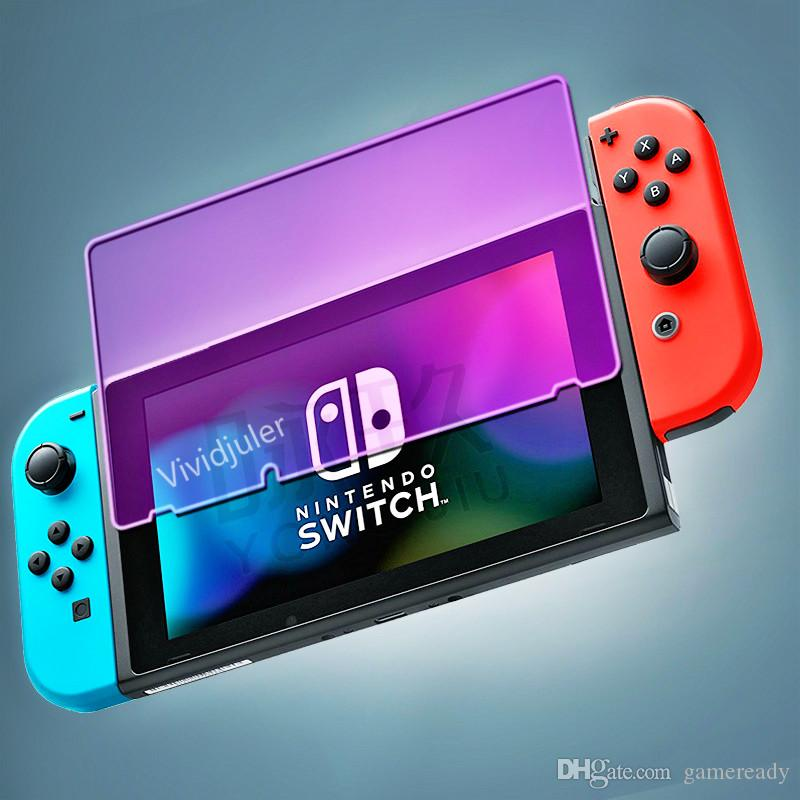 Eye Protection Blue Purple Glass For Nintendo Switch tempered Glass film NS HD NX glass film game protective film protector