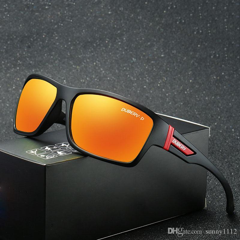 óculos de sol para homens esportes equitação polarizada pesca ao ar livre à prova de vento óculos de sol dos homens óculos UV400 lentes de resina óculos de moda