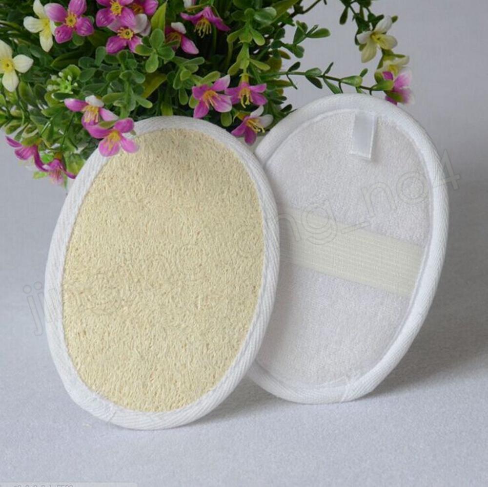 11 * 16 cm acolchador de esponja lufa natural Loubah Scrubber eliminar la esponja de esponja de esponjilla de piel muerta para el hogar herramientas de limpieza hotal FFA2103