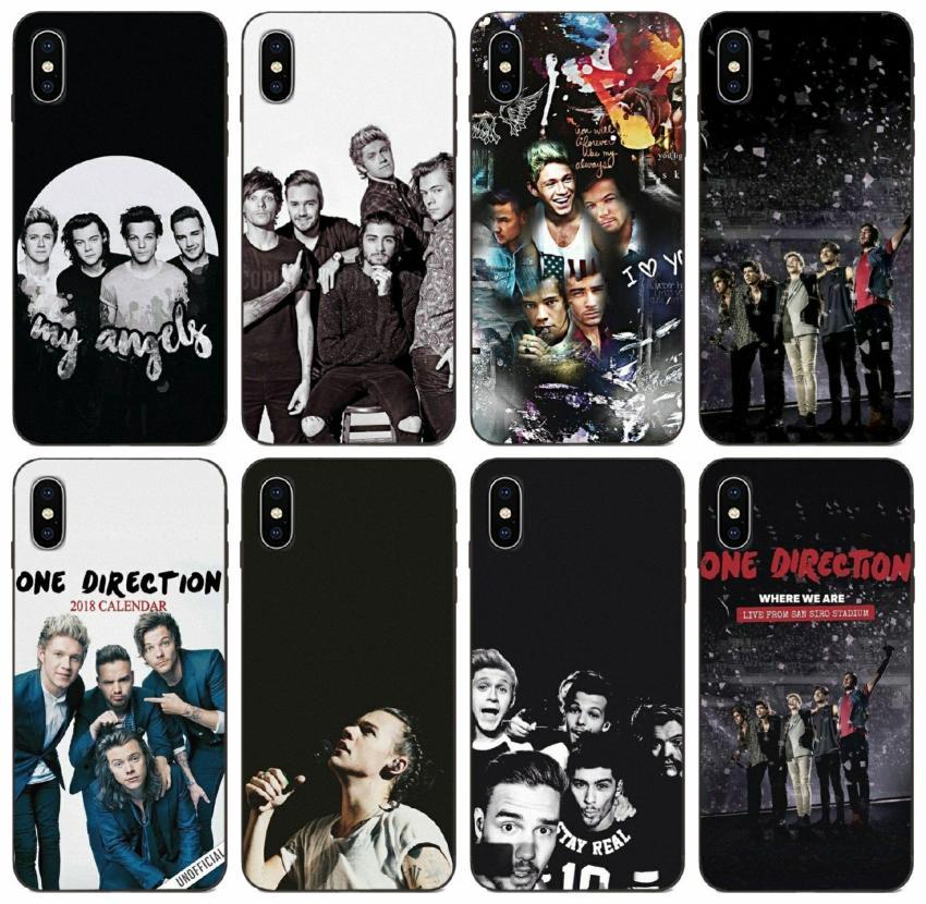 [TongTrade] Una dirección 1d caso del iPhone para el 11 Pro X XS Max 8 7 6s 6p 5p 5s Samsung A6 2018 A60 A6S la cubierta del caso A2 Huawei P10 Plus Xiaomi Mi