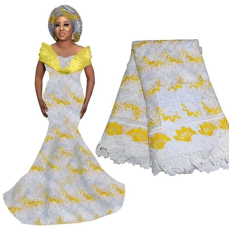 Flor Africano tela do laço 2020 de alta qualidade francesa tela do laço nigeriano Cord Lace Tecidos para as Mulheres vestido de casamento