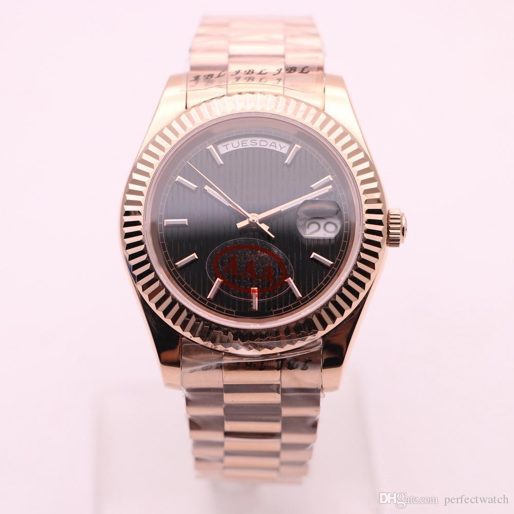 ساعة ميكانيكية كلاسيكية للرجال 40 مم لا توجد حركة تجتاح للبطاريات ساعة من الفولاذ المقاوم للصدأ تاريخ الموديل طراز الساعات 1533