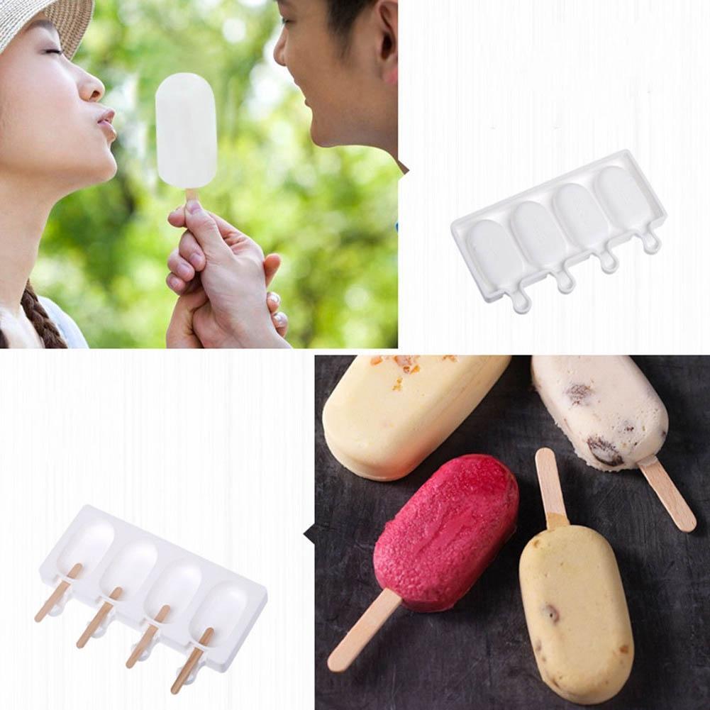 4 Çürükler Dondurma Kalıp DIY Pişirme Silikon Tatlı Çikolatalı Kek Kalıp Yapışmaz MJJ88 Dondurma Araçlar Malzemeleri
