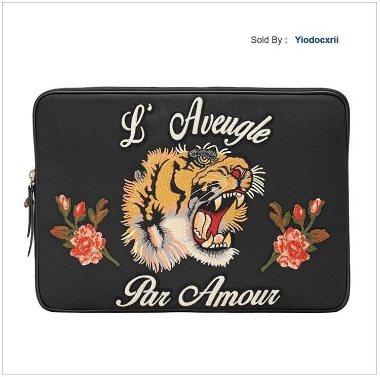 yiodocxrii W7CJ tête de tigre Imprimer Sac à main noir Totes Sacs à bandoulière Sacs à dos Portefeuilles bourse