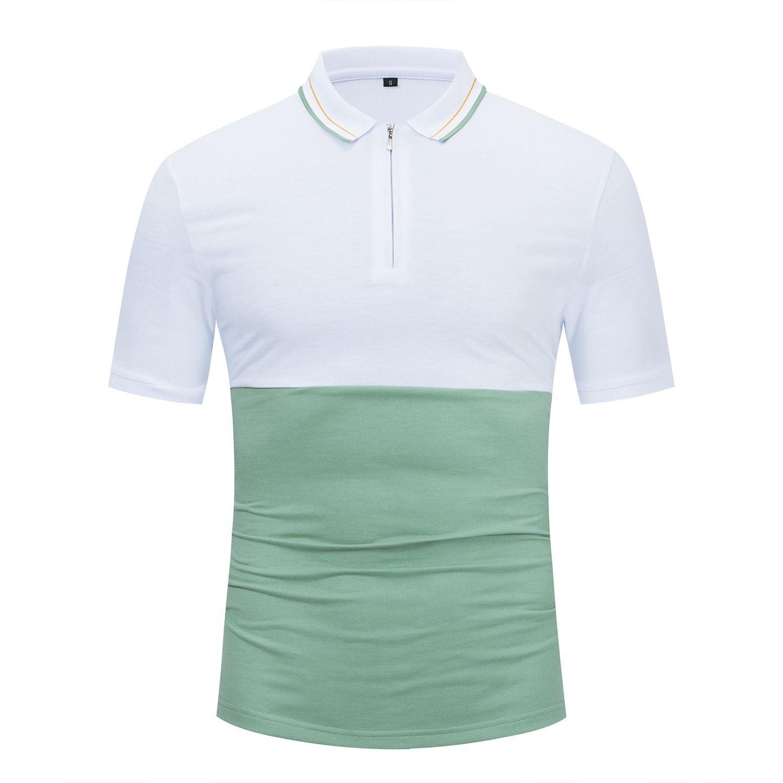 Hombre Down Designer Casual Polos Hombre Gire Hombres Hombres Moda Camisas Cómodo Polo transpirable Patchwork Collar de verano COXUP