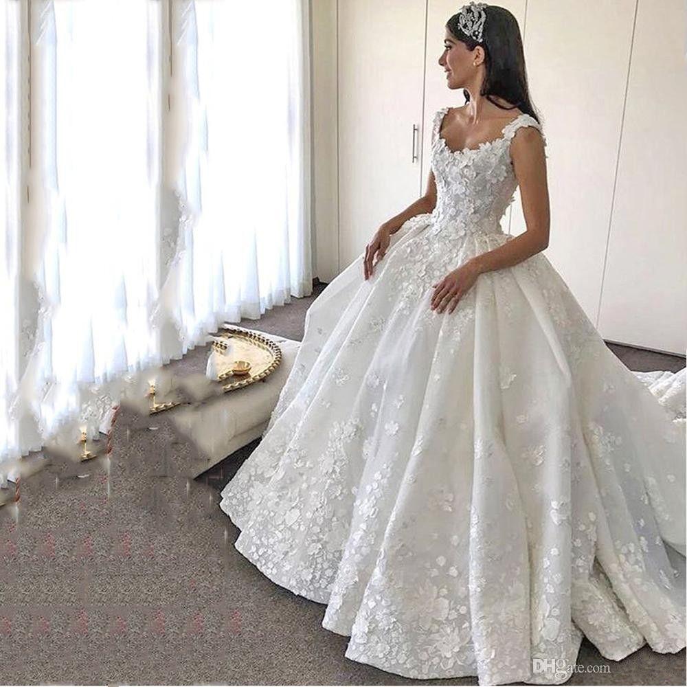 Großhandel 13 Luxus Arabisch Weiß / Elfenbein Prinzessin Ballkleid  Brautkleider Lange Vintage Arabien Braut Formale Kleider Fabelhafte  Hochzeit