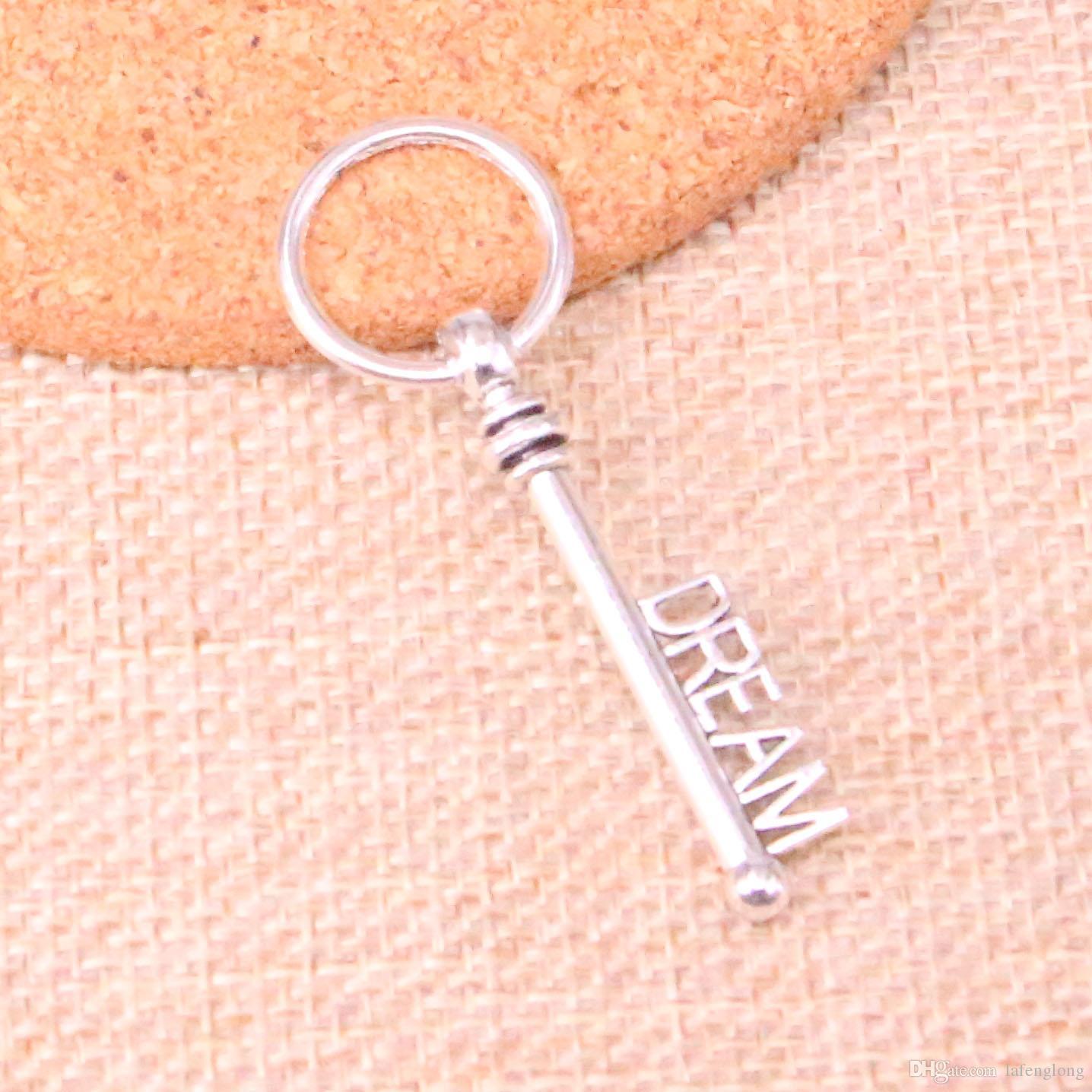 48 шт. Античный посеребренная скелет ключ мечта подвески подвески подходят решений браслет ожерелье ювелирных изделий ювелирные изделия Diy Craft 51 мм
