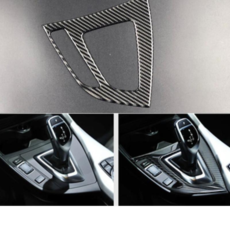 Carbon-Faser-Gangschaltung-Panel-Abdeckung Trim Dekoration Streifen 3D Aufkleber für BMW 1er 116i 118i F20 F21