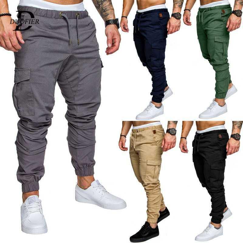 Multi bolsillo del pantalón casual masculino Harem Pantalones basculador del pantalón más el tamaño de 2.020 hombres Hip Hop streetwear de la moda de algodón Pantalón cargo