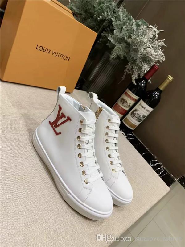 Chaussures à de Sneakers en cuir véritable de baskets masselotte vendre Casual Chaussures de sport blanc Mode flats sport Couleur mixtes en cours d'exécution