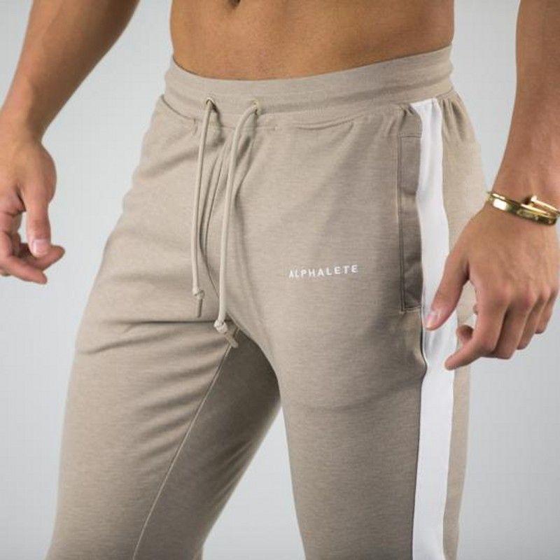 Alphalete 브랜드 가을 겨울 휘트니스 남성 체육관 바지 패션 코튼 펜슬 바지 보디 빌딩 바지 고품질 조깅