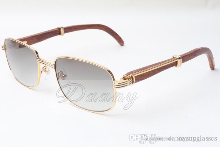 Factory Outlet Neue Stil Platz Holz Sonnenbrille, 7381148 Natürliche Holz Brillen Größe: 56-21-135mm, Premium Luxus Sonnenbrille,