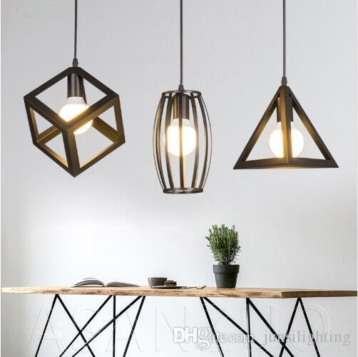 3 heads pendant lamps Loft Iron Lights Industrial Style Restaurant Bar Creative Retro E27 Hanging