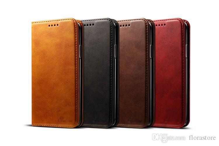 آيفون 7 زائد xr x ماكس 11 12 برو كامل واقية kickstand الهاتف يغطي بطاقة جيب جلد الوجه حامل الهاتف حالة