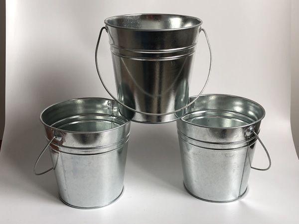 D15XH15CM Plateado Maceta Zinc Jardinera Cubos de Metal boda flor bañera Decoración para el hogar decoración envío gratis
