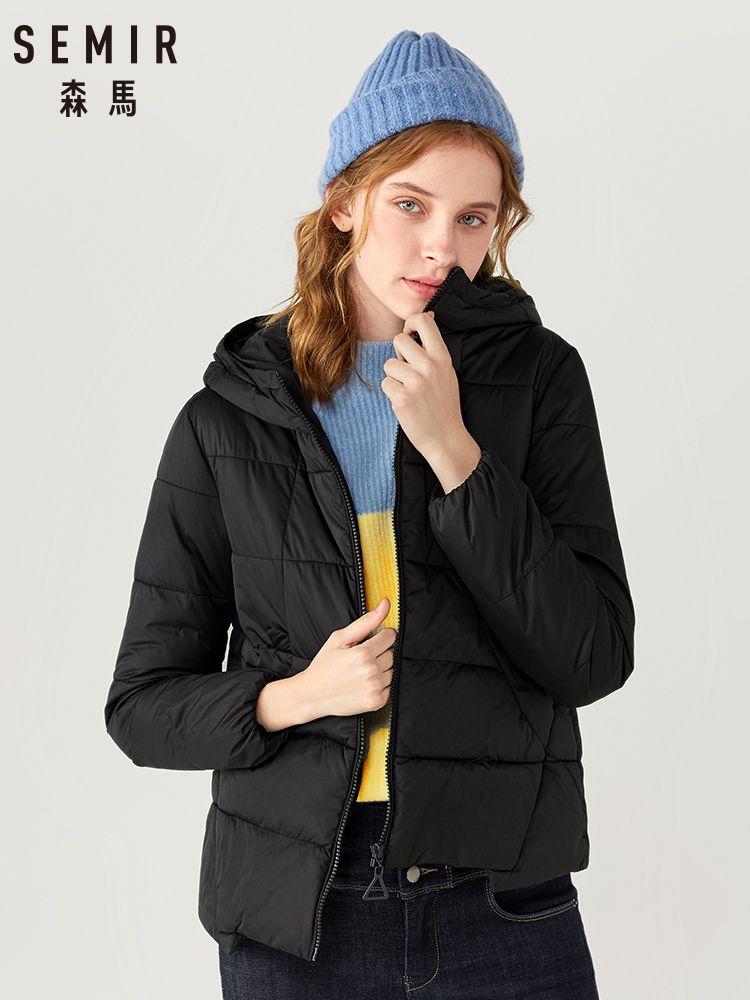 SEMIR Cotton coat women 2019 new fashion short hooded jacket Korean winter cotton clothing ins bread style
