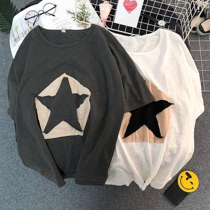 20190322 Meilleure vente Costume Eté Pentagon Super Large T-shirt à manches mi-longues