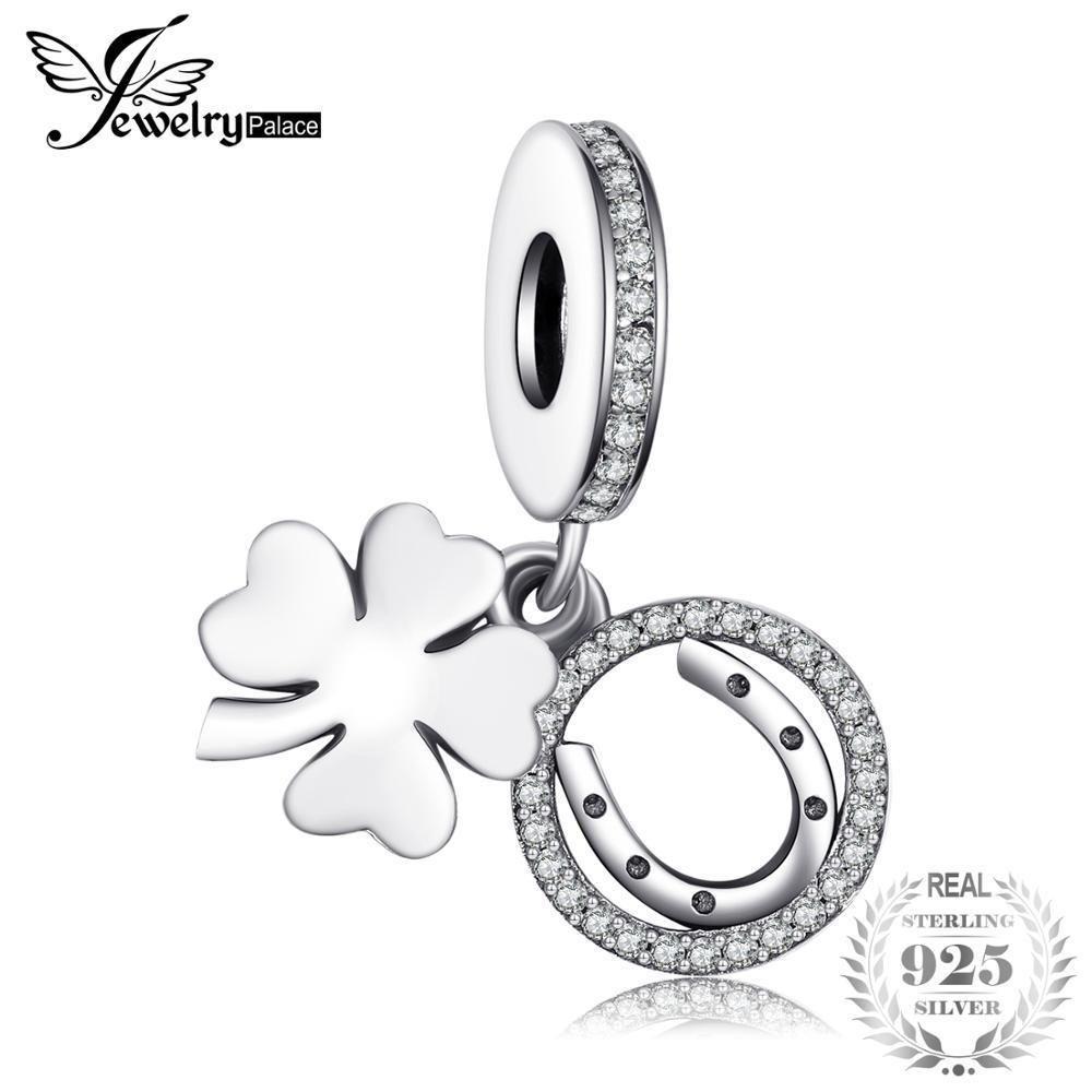Jewelrypalace 925 Sterling Silber Weiße Blume Glück Um Charme Armbänder Geschenke Für Frauen Jahrestag Geschenke Modeschmuck C19041201