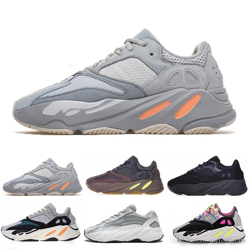 Adidas boost 700 V2 yezzy 700v2 2020 new arrival Barato Mauve 700 Wave Runner Hombres Mujeres Diseñadores para hombre Nuevo 700 V2 Static Best Quality Kanye West Zapatillas 5-11.5