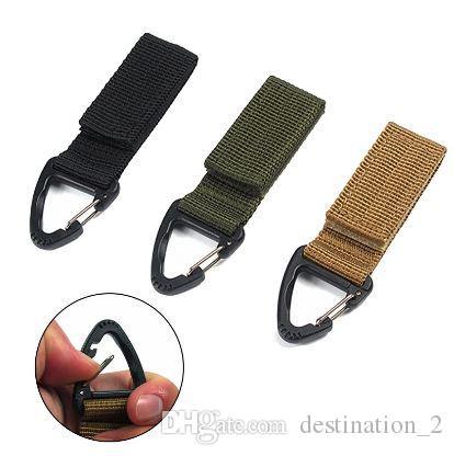 Molle della clip Cintura in tessuto nylon ad alta resistenza moschettone appeso a catena Gancio zaino chiave esterna tessitura Buckle 1PC
