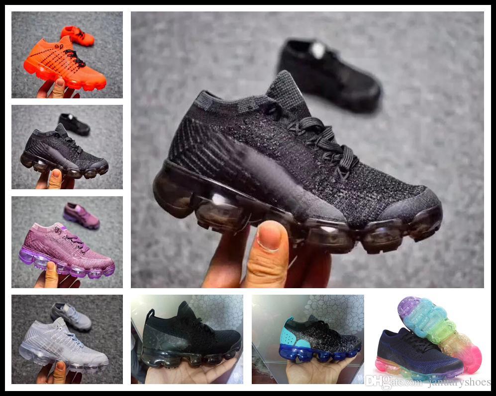 Original Black Infant Kids 2018 Athletic Running Shoes Children 2018 Kpu Basketball Toddler Children Boy Girls Tn Sports Sneakers