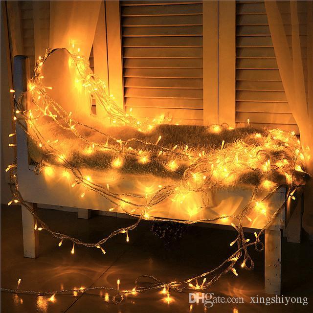 300 LED 30 М Строка Гирлянда Лампа Праздник Рождество Xmas Гирлянда Свадьба Украшение Красочный Мигающий LED 8 Режимов ВЕЛИКОБРИТАНИИ АС ЕС Plug