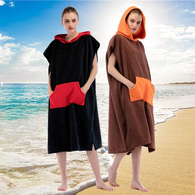 ¡Nueva llegada! 110x75cm Ex-grande de surf más gruesa toalla de microfibra terry toalla de playa poncho para el buceo su apoyo logotipo personalizado