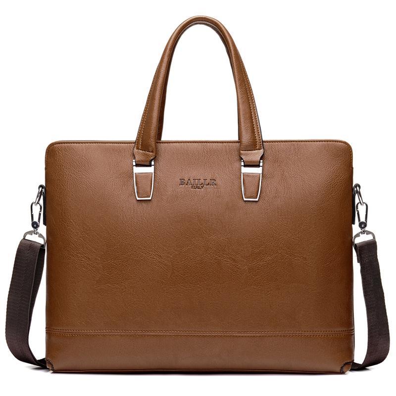 الرجال حقائب حقائب براون حقيبة يد حقيبة الأعمال لرجل محمول حقيبة السفر حقائب الكتف 15 بوصة كبير PU جلدية