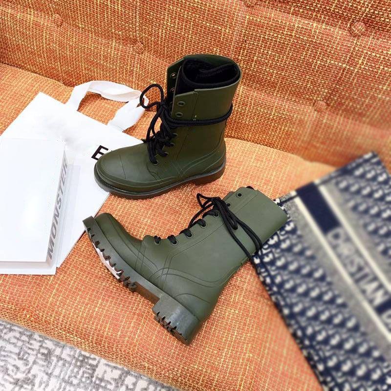 Hot di vendita delle donne-Designer scarpe di gomma STIVALETTI martin pizzo di lusso Martens stivali doc moda fino stivaletti Bottes donne stivali
