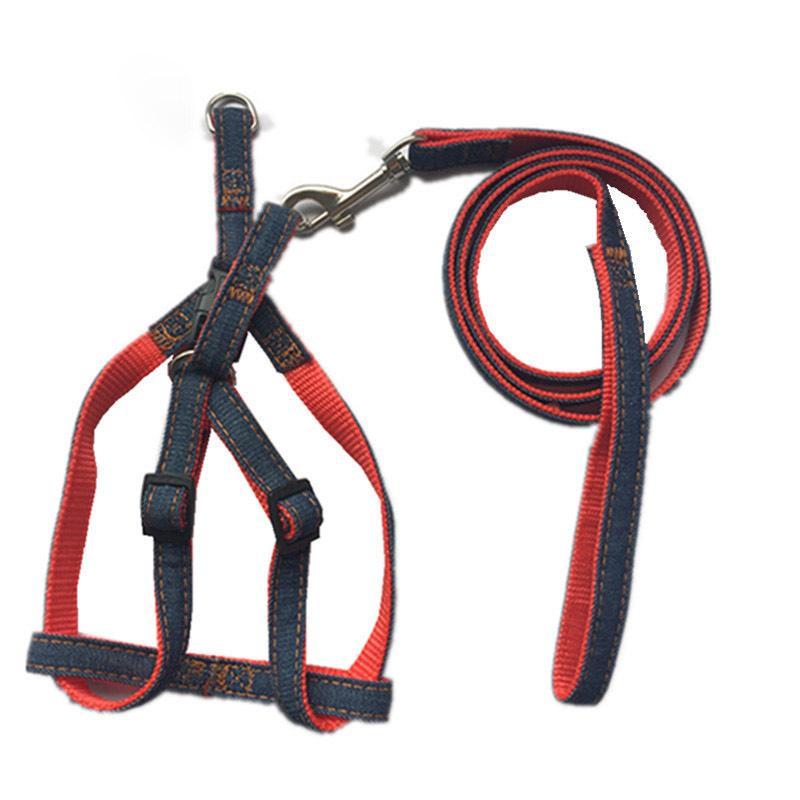 Arnés para perro, resistente, resistente, ajustable, collar para perro, correa para perro, anti torcedura, para pequeñas y medianas