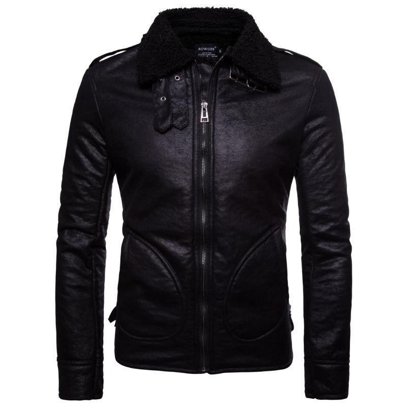 Европейские и американские кожаные куртки PU кожаной куртки
