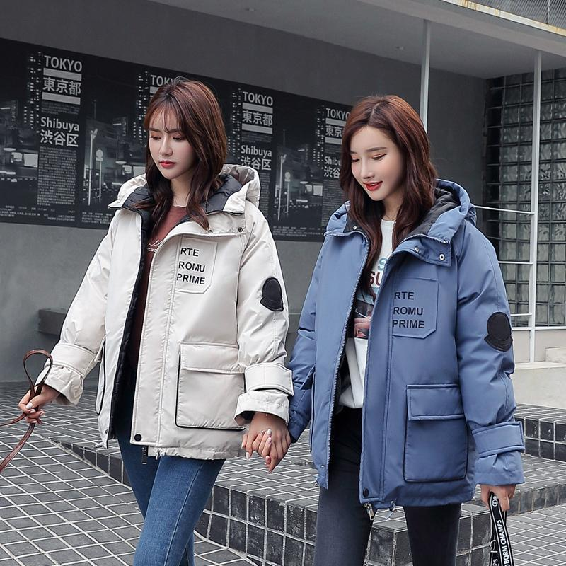Новые 2019 высокого качества Зимняя куртка Женщины Плюс Размер Зимнее пальто с капюшоном Теплый хлопок проложенный Длинные Parkas для женщин SZ05