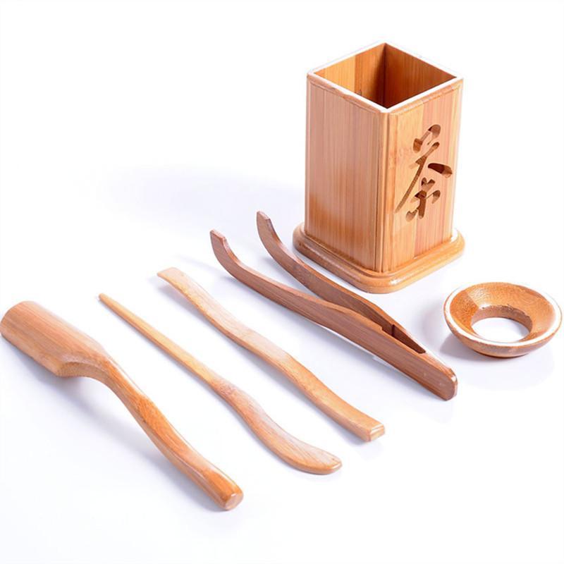 Bamboo thé fixe Outils Chine classique Gongfu service à thé petit bois naturel soucoupe à thé Dao théière thé ensemble théière préféré 2019