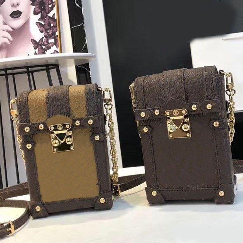 Womens Sacs de Crossbody Lady Wallet Mode haute qualité Mobile Téléphone Sac Femmes Portefeuilles Sacs à bandoulière chaîne boucle en métal Livraison gratuite