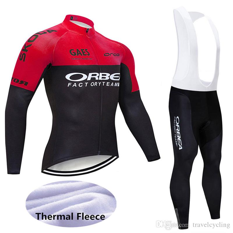 2020 Pro Winter Thermal Fleece orbea Cycling Jersey Suits Ropa Ciclismo Mtb Long Sleeve Men Bike uniform bicycle Clothing 121803Y