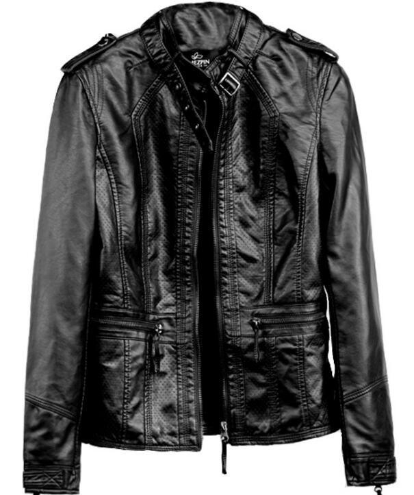 nuovi rivestimenti delle donne europee ed americane breve millimetro grasso pelle moto giacca giacca di grandi dimensioni delle donne delle donne sottili 2020 autunno