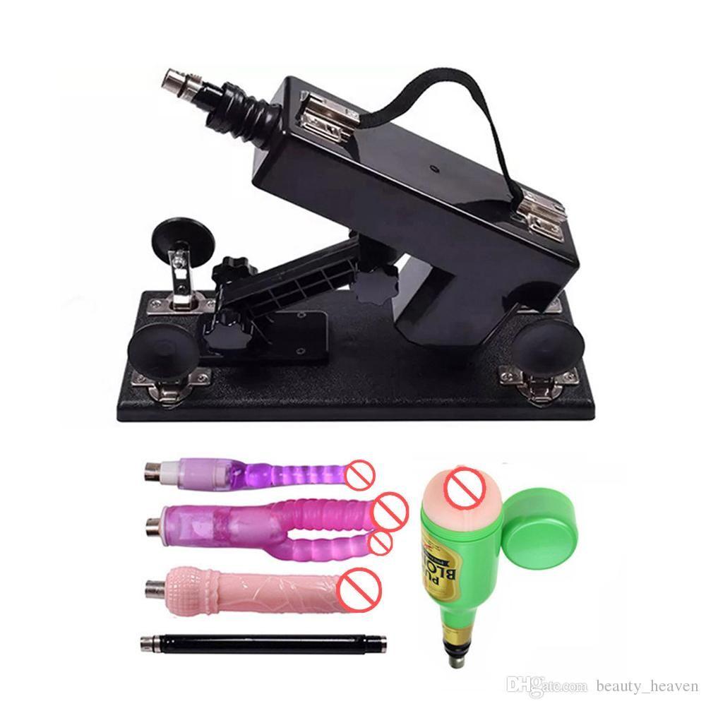 Machine de sexe automatique canon jouets de masturbation féminine pour femmes avec accessoires de godes Vitesse de déplacement: 0-420 fois / minute