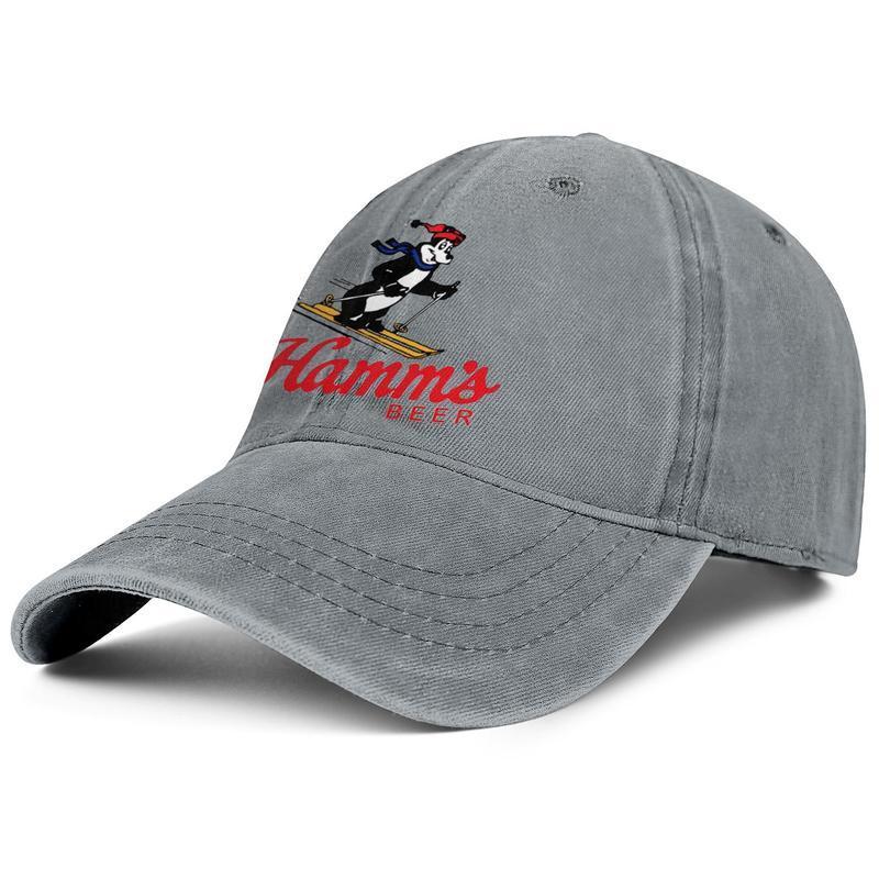 Hamms-Beer-Ski- Unisex Fashion Baseball Cap Ball Custom Adjustable Vintage Hat Personalized Denim Hamms Beer Ski Some Stars Tray Green