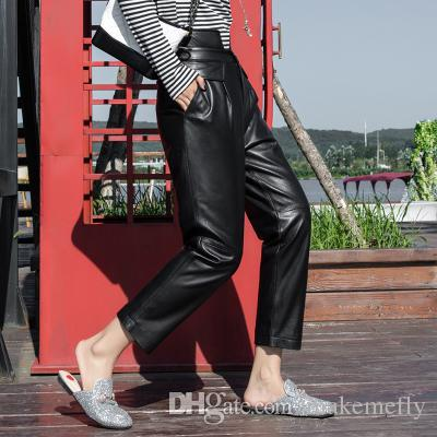2018 New Fashion Real Sheep Leather Pants BP38