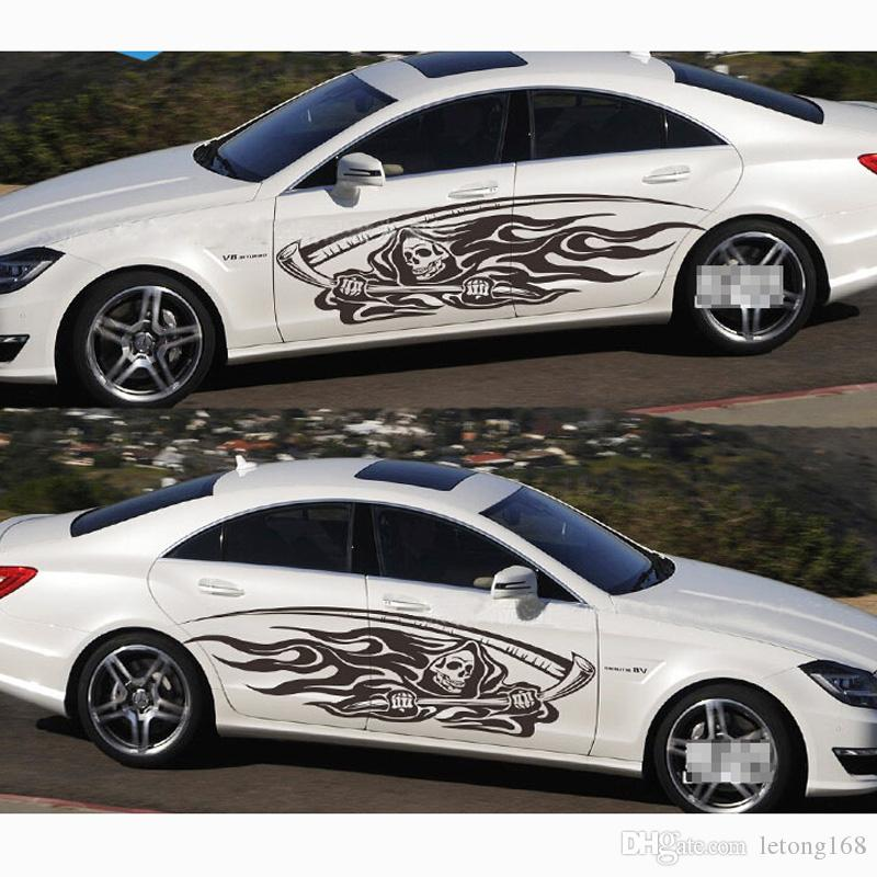2021 Skull Car Body Decals Autos Waist Line Pull Cartoon Modified Stickers From Letong168 22 12 Dhgate Com