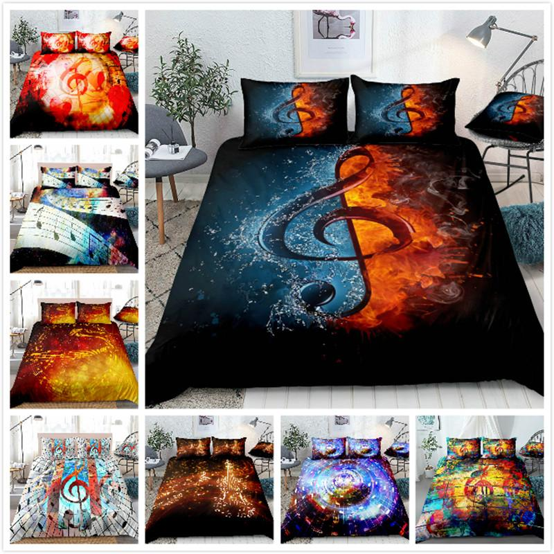 3D Note Series Bedding 2/3 Piece Set Full Size Bedding set queen size