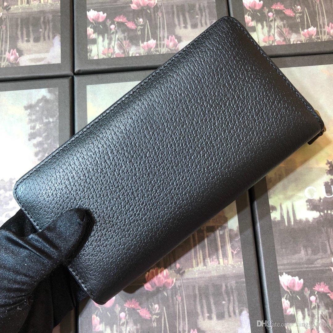 Hohe Qualität Heißer Verkauf Luxus Designer Echtes Leder Herren Und Damen Brieftaschen Geldbörse Kartenhalter Kupplung Handtaschen Biene Mit Box