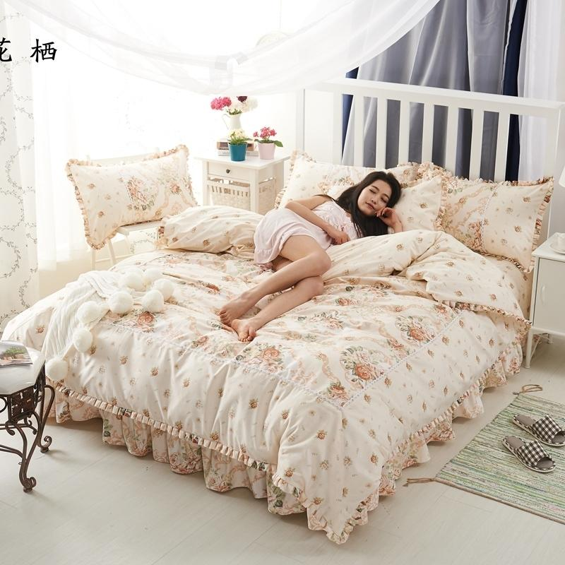 Chic Floral Duvet Cover Set Pink Cotton Farmhouse Bedding With Zipper Queen Size Set 1duvet Cover 1 Bed Sheet 2 Pillowcase T200517 Bedroom Bedding Quilt Comforter Sets From Hai07 63 23 Dhgate Com
