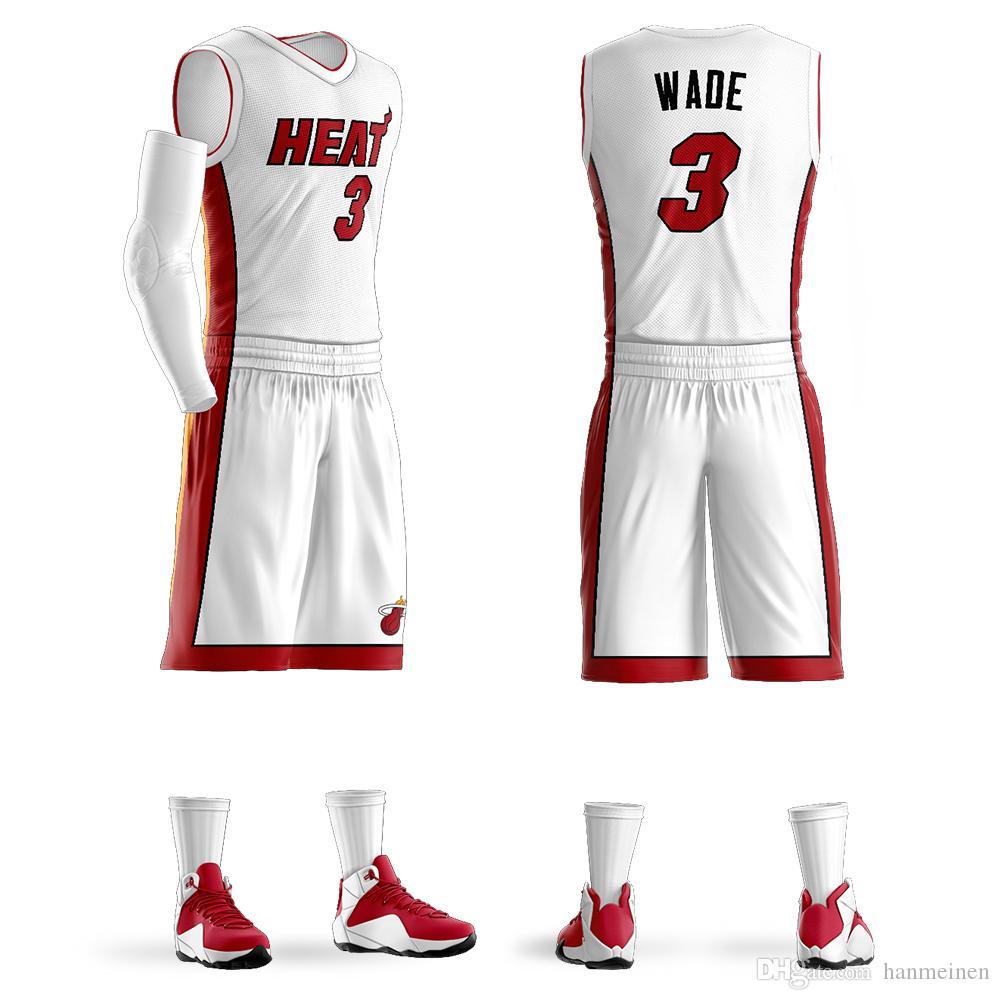 مخصص كلية دوري كرة السلة الفانيلة مجموعات دواين وايد جيرسي بيربل كرة السلة قميص تصميم حسب الطلب بالجملة